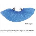 Acoperitori pantofi cu Inele pentru Dispenser HDPE, 2.5G, Albastru, 100Buc