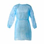 Halate protectie vizitatori cu legaturi la spate 100 Buc 25gr  BLUE