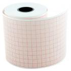 Hartie ECG 58 mm x 25 m, pentru Aspel Ascard, caroiaj rosu, 5 role