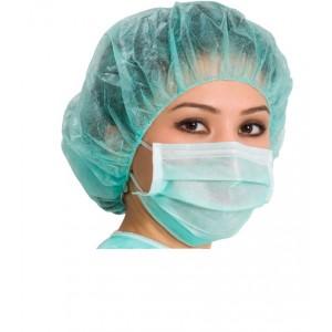 Masti chirurgicale cu elastic Verzi 50Buc